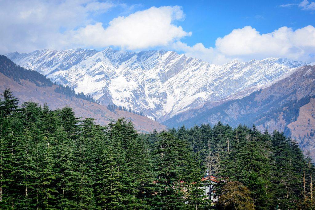 Ausblick aufs Manaslu Gebirge, Nepal