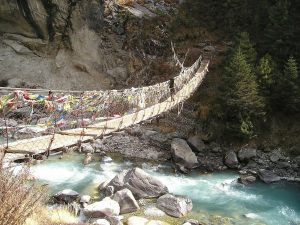 Annapurna Circuit - Nepal Hängebrücke