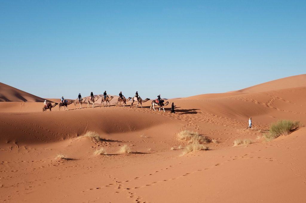 Trekking in der Wüste - Sahara Marokko