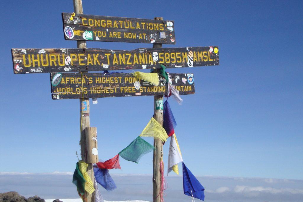 Kilimandscharo Besteigung Gipfel
