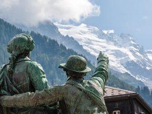 Mont Blanc Erstbesteiger Statue