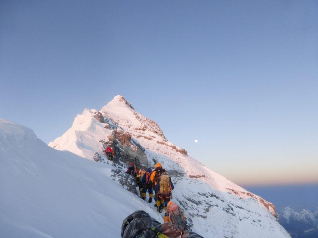 Mount-Everest-Besteigung-Gipfelgrat