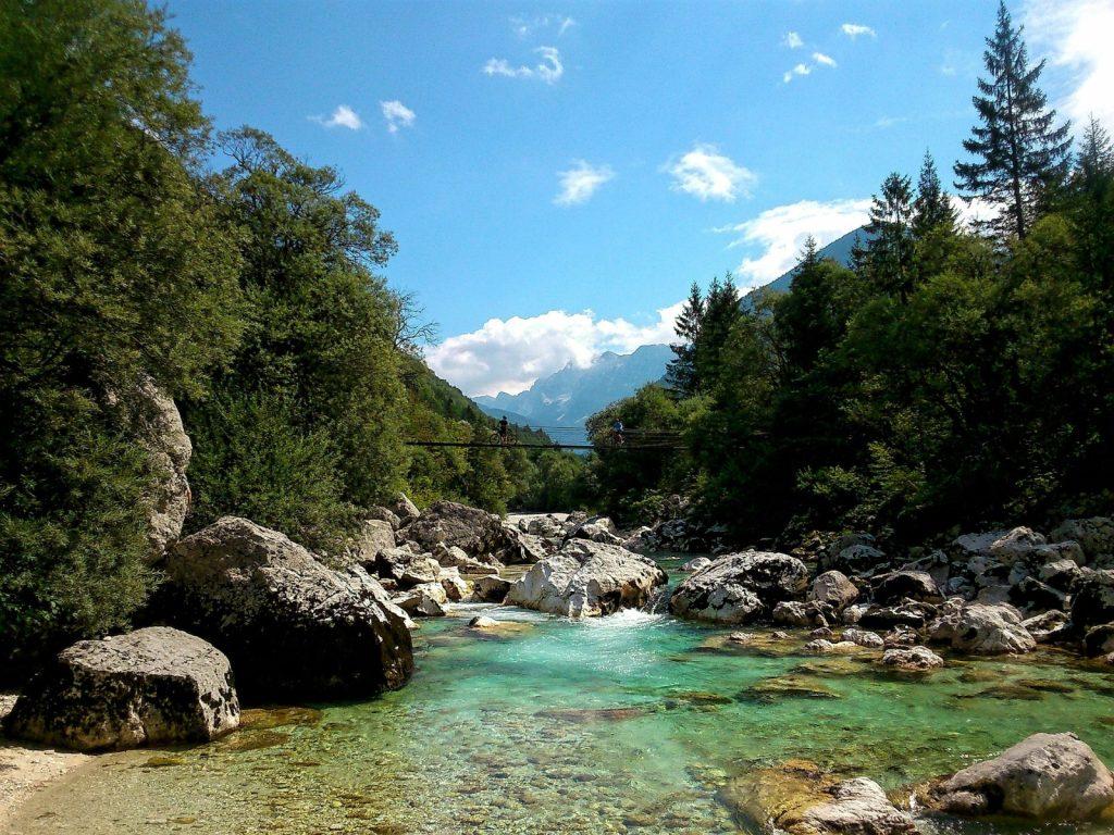 Soca Tal Slowenien Soca Fluss