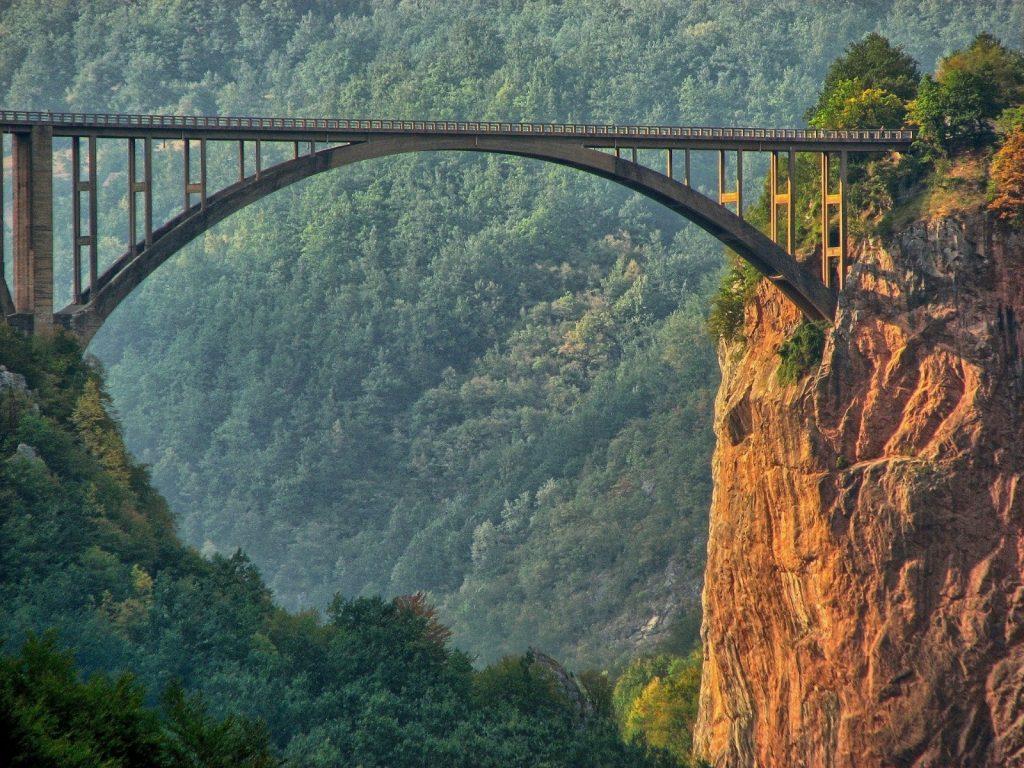 Tara Brücke Tara Schlucht Fluss Montenegro