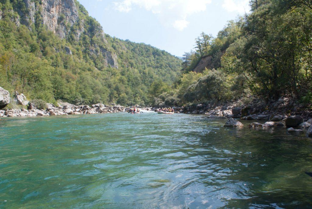 Tara Schlucht Tara Fluss Rafting Montenegro