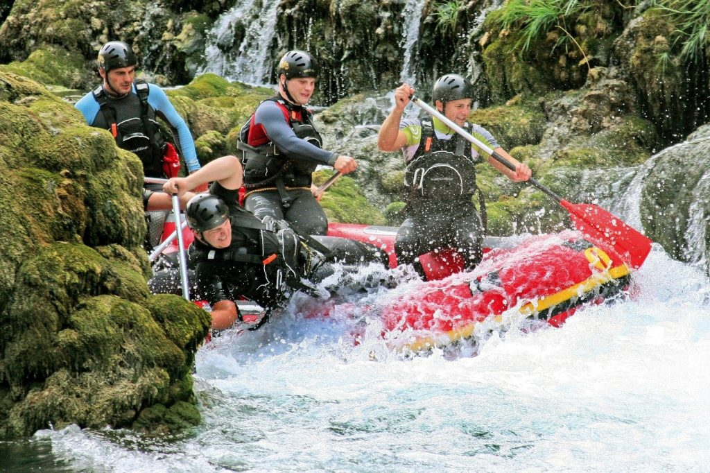 Una Fluss Rafting Abenteuer Bosnien