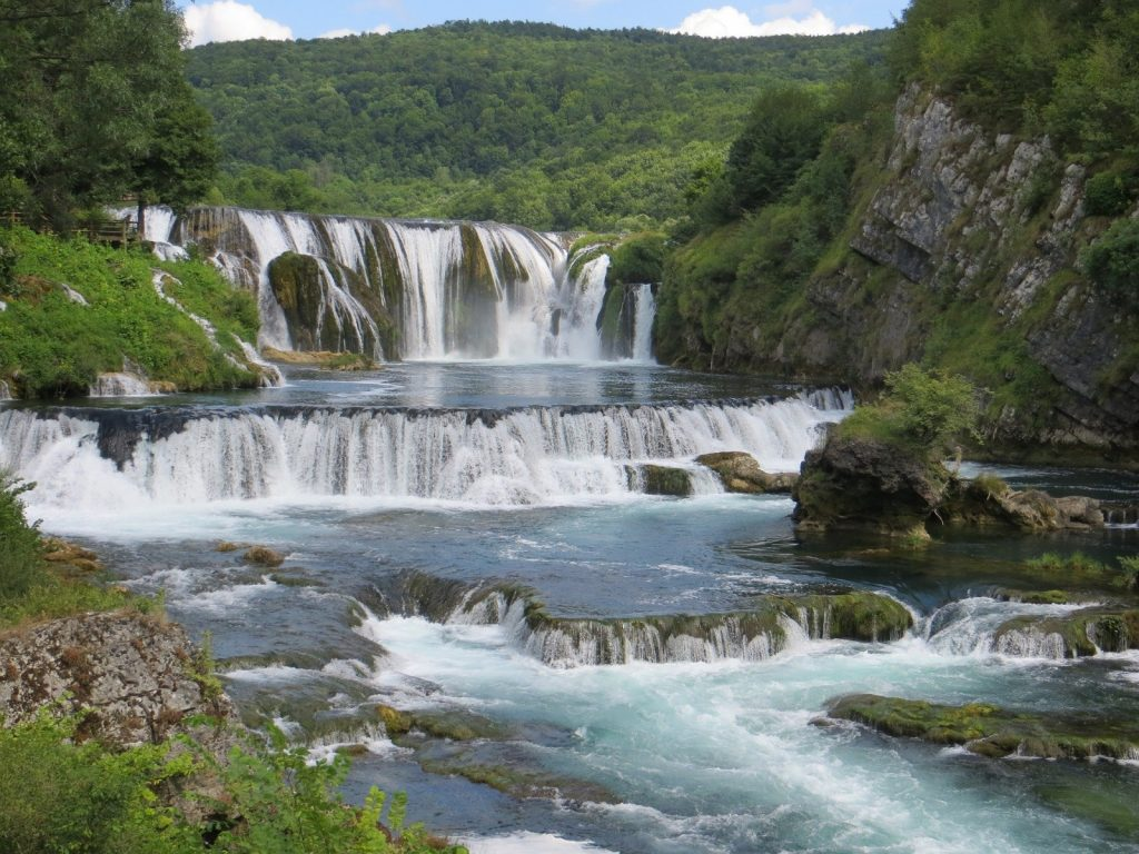 Una Nationalpark Fluss Štrbacki Buk Bosnien