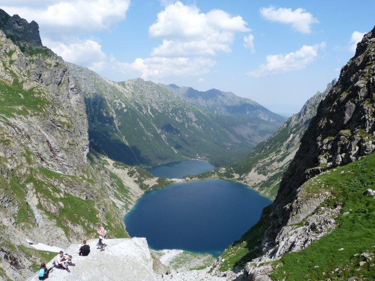 czarny staw Morskie Oko Rysy Tatra Polen